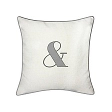 """Celebrations Pillow Embroidered Appliqued """"&"""""""