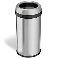 Halo Dual Deodorizer Round Open Top Stainless Steel Trash Can 16 Gallon