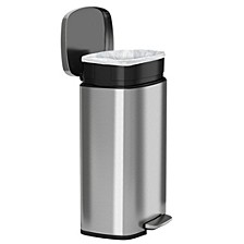 Halo 50 L / 13.2 Gal Premium Stainless Steel Step Trash Can