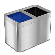 Dual-Compartment 5.3 Gallon / 20 liter Open-Top Trash Can