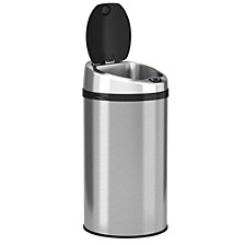 8 Gallon Round Sensor Trash Can with Deodorizer, Stainless Steel