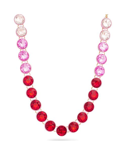 Steve Madden Pink Bib Necklace
