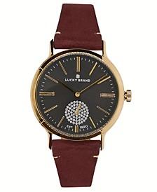 Women's Ventana Berry Leather Watch 34mm