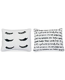 "THRO Evan Eyelash Reversible 14"" x 18"" Decorative Pillow"