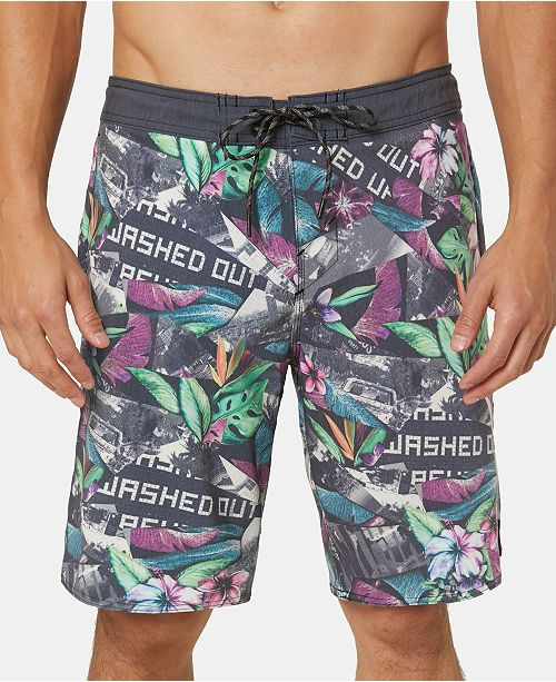 "O'Neill Men's Indo Cruzer Stretch Tropical-Print 19"" Board Shorts"