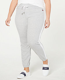Tommy Hilfiger Plus Size Striped Sweatpants