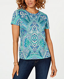 Tommy Hilfiger Printed Short-Sleeve T-Shirt, Created for Macy's