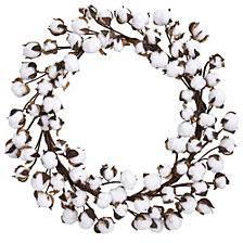 "Nearly Natural 20"" Cotton Ball Wreath"