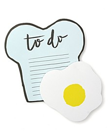 Toast and Egg Magnetic Notepad Set