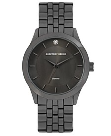 Textured Dial Genuine Diamond Watch