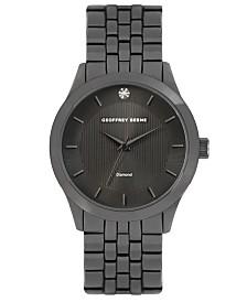 Geoffrey Beene Textured Dial Genuine Diamond Watch