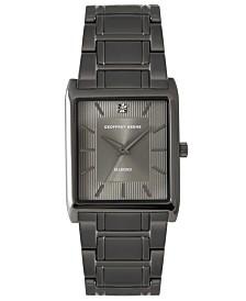 Geoffrey Beene Black Embossed Dial Genuine Diamond Bracelet Watch
