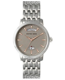 Textured Day Date Dial Bracelet Watch