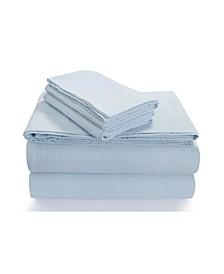 Flannel 170-GSM Cotton Solid Extra Deep Pocket Full Sheet Set