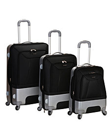 Rockland Rome 3-Piece Hybrid Eva or Abs Luggage Set