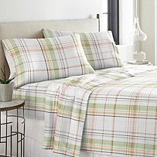 Pointehaven Heavy Weight Cotton Flannel Sheet Set Queen
