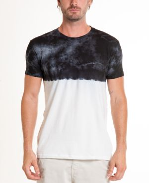 ORIGINAL PAPERBACKS South Sea Crystal Wash Dip Tie Dye Crewneck Tee in Black