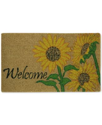 "Image of Bacova Welcome Sunflowers 18"" x 30"" Doormat"