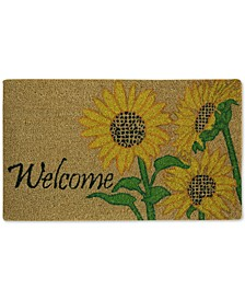 "Welcome Sunflowers 18"" x 30"" Doormat"