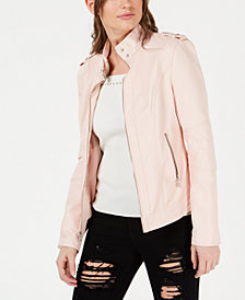 GUESS Sabrina Faux-Leather Biker Jacket