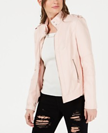 4217bec6cf Faux Leather Jackets for Women - Macy s