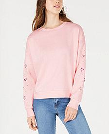 Freshman Juniors' Embellished Sweatshirt