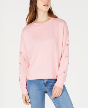 FRESHMAN | Freshman Juniors' Embellished Sweatshirt | Goxip