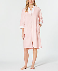 Miss Elaine Brushed-Back Terry Zip Robe