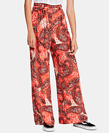 Free People Printed Double Trouble Wide-Leg Pants