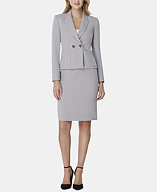 Tahari ASL Peak-Lapel Skirt Suit
