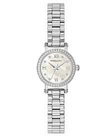 Ladies SilverTone Bracelet Watch with Light MOP Dial, 24mm
