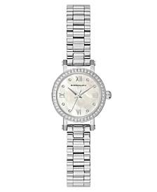 BCBGMAXAZRIA Ladies SilverTone Bracelet Watch with Light MOP Dial, 24mm