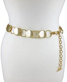 Accessories Modern Disc Circle Chain Belt