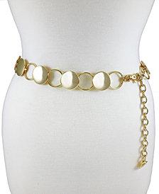 Fashion Focus Accessories Modern Disc Circle Chain Belt