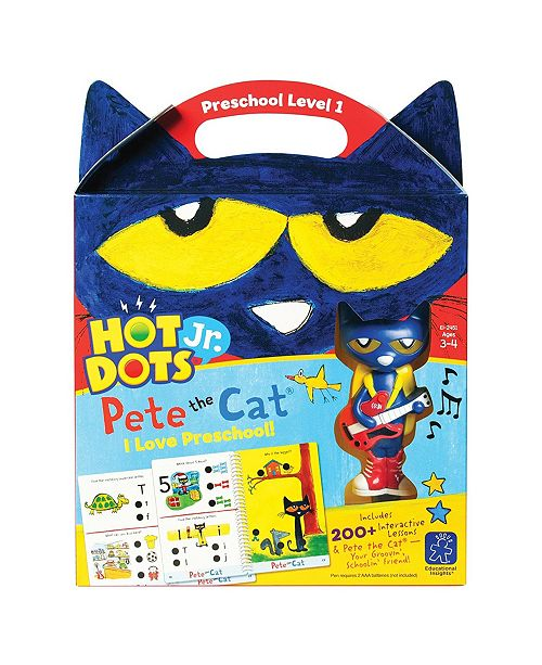 Learning Resources Educational Insights Hot Dots Jr Pete The Cat I Love Preschool Set
