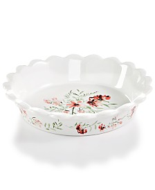 Martha Stewart Collection Floral Pie Plate, Created for Macy's