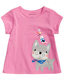 First Impressions Toddler Girls Frenchie-Print T-Shirt, Created for Macy's