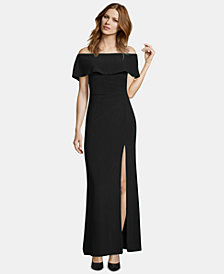 X by Xscape Ruffled Off-The-Shoulder Gown
