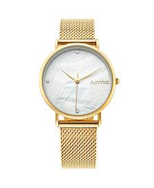 RumbaTime Lafayette Gold Mesh Women's Watch