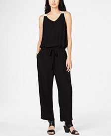 Eileen Fisher Silk Drawstring Jumpsuit