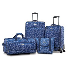 FieldBrook XLT 4PC Printed Luggage Set