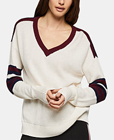 BCBGeneration Striped Varsity Sweater