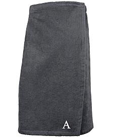 Linum Home 100% Turkish Cotton Terry Personalized Women's Bath Wrap - Dark Grey