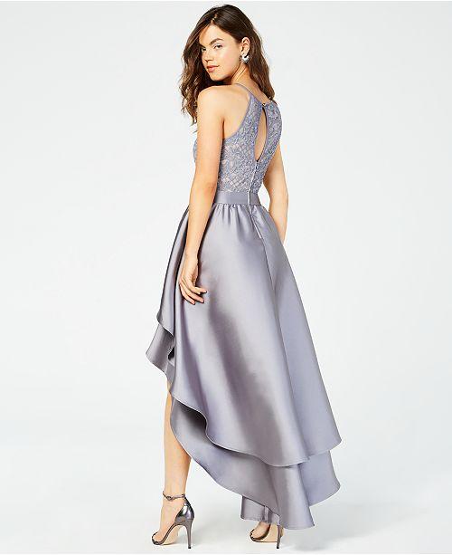 3cbdd4b878 ... Emerald Sundae Juniors  Lace-Top Asymmetrical-Skirt Gown