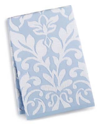 """Terry Damask 30"""" x 54"""" Bath Towel, Created for Macy's, CLOSEOUT!"""