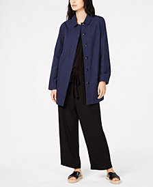 Eileen Fisher Organic Cotton Car Coat, Regular & Petite