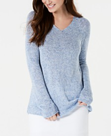 Style & Co Marled V-Neck Sweater, Created for Macy's