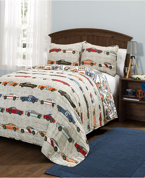 Lush Decor Race Cars 2-Pc Set Twin Quilt Set