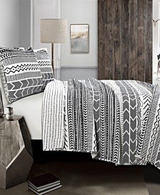 Hygge Geo Taupe 3-Pc Set Full/Queen Quilt Set