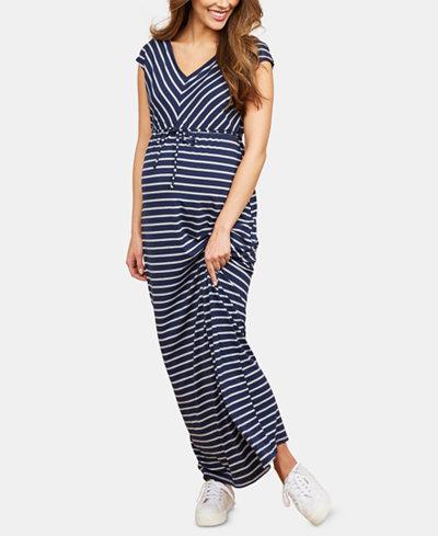 Motherhood Maternity Striped Maxi Dress